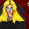 Raven Yellow Hair by Scott Bowlinger