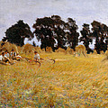 Reapers Resting In A Wheat Field by John Singer Sargent