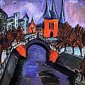 Red Elisabeth Riverbank Berlin by Ernst Ludwig Kirchner