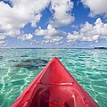 Red Outrigger Canoe by M Swiet Productions