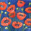 Red Poppies by Ingela Christina Rahm