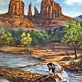 Red Rock Crossing by Gracia  Molloy