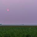 Red Smoky Sun by Alan Dyer