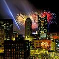 21l334 Red White And Boom Fireworks Display Photo by Ohio Stock Photography