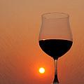 Red Wine At Sunset by Martin Belan