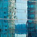 Reflections In Modern Glass-walled Building Facade by Stephan Pietzko