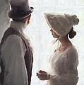Regency Period Couple At The Window by Lee Avison