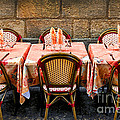 Restaurant Patio In France by Elena Elisseeva