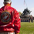 Retired Marine Paying Respect by B Christopher