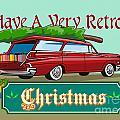 Retro Christmas Tree Station Wagon by Aloysius Patrimonio