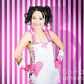 Retro Cleaning Service Maid With Smile by Jorgo Photography - Wall Art Gallery