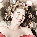 Retro Pin-up Woman With Rocking Hairstyle by Jorgo Photography - Wall Art Gallery