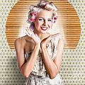 Retro Woman At Beauty Salon Getting New Hair Style by Jorgo Photography - Wall Art Gallery