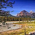 River And Mountains In Jasper by Viktor Birkus