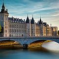 River Seine And Conciergerie by Brian Jannsen