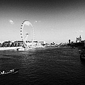 river thames london eye shell tower and south bank London England UK by Joe Fox