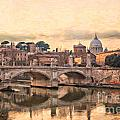 River Tiber In Rome by Sophie McAulay