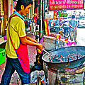 Roasting Chestnuts In China Town In Bangkok-thailand  by Ruth Hager