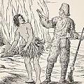 Robinson Crusoe And Friday by English School
