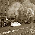 Steam Pumper Rochester Show Case Co. Fire Circa 1890s by California Views Archives Mr Pat Hathaway Archives