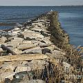 Rock Jetty At Sandy Point by Ben Schumin