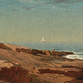 Rocks At Narragansett by William Stanley Haseltine