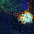 Rosette Nebula by J-p Metsavainio/science Photo Library