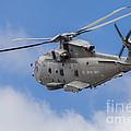Royal Navy Eh-101 Merlin In Flight by Timm Ziegenthaler