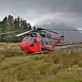 Royal Navy Sar Sea King Xz920 Glencoe by Gary Eason