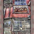 Rusty Grungy Weathered Abandoned Building Exterior by Beverly Claire Kaiya