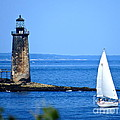 Sailing By Ram Island Light by Nancy Patterson