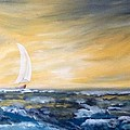 Sails At Sunset by Laura R OKelly