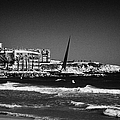 Salou Waterfront Properties And The Els Pilons Sculpture On The Costa Dorada Catalonia Spain by Joe Fox