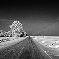 salt and grit covered rural small road in Forget Saskatchewan Canada by Joe Fox