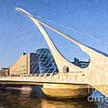 Samuel Beckett Bridge Dublin by Liz Leyden