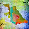 San Jose Map And Skyline by Marvin Blaine