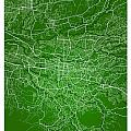 San Jose Street Map - San Jose Costa Rica Road Map Art On Colore by Jurq Studio