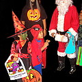 Santa Trick Or Treaters Halloween Party Casa Grande Arizona 2005 by David Lee Guss