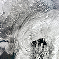 Satellite View Of A Large Noreaster by Stocktrek Images