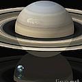 Saturn And Earth, Artwork by Carlos Clarivan