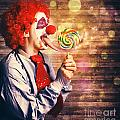 Scary Circus Clown At Horror Birthday Party by Jorgo Photography - Wall Art Gallery