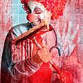 Scary Hospital Clown Cleaning Blood Smeared Window by Jorgo Photography - Wall Art Gallery