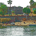 Scene Along Nile River Between Luxor And Qena-egypt  by Ruth Hager