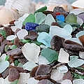 Sea Glass In Many Colors by Janice Drew