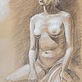 Seated Model Drawing  by Irina Sztukowski