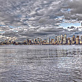 Seattle Cityscape In Clouds by SC Heffner