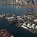 Seattle Skyline And South Industrial Area by Jim Corwin