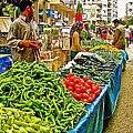 Selling Fresh Vegetables In Antalya Market-turkey by Ruth Hager