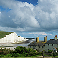 Seven Sisters Cliffs And Coastguard Cottages by Gary Eason