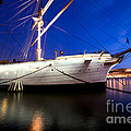 Ship At Night In Stockholm by Michal Bednarek